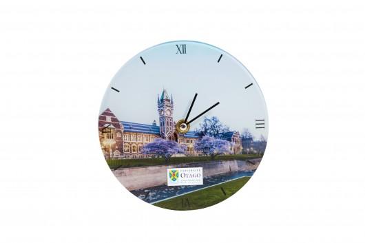 University of Otago glass clock