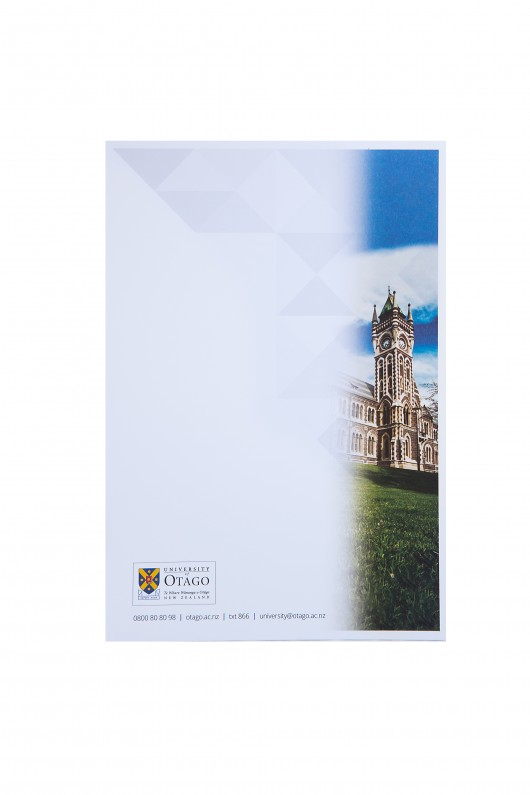 University A5 notepad