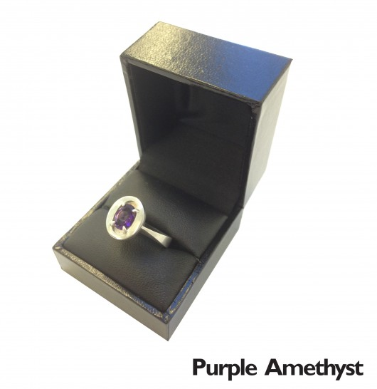 Sterling silver female stone set ring