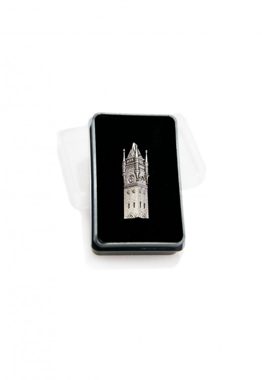 Clocktower lapel badge