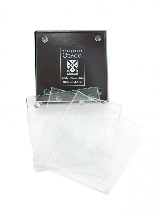 University of Otago glass coasters 4pk