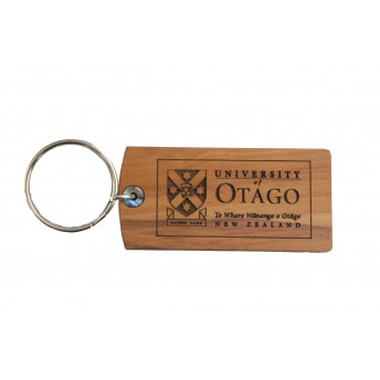 Rimu keyring University of Otago crest