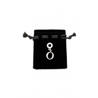 Sterling silver O charm