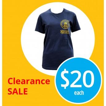 150th unisex blue t-shirt