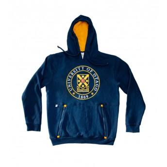 Unisex blue pull over hoodie