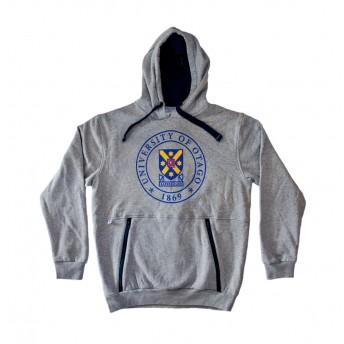 Unisex grey pull over hoodie