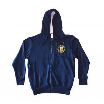 Unisex blue zip up hoodie