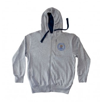 Unisex grey zip up hoodie