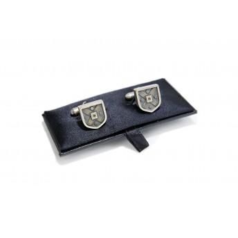 Sterling silver crest cufflinks